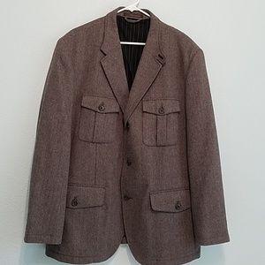 Tasso Elba Size 46-48 Sports Coat Brown